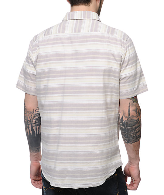 RVCA Raya White Short Sleeve Button Up Shirt