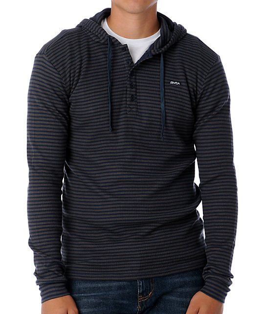RVCA Remix Navy Hooded Thermal