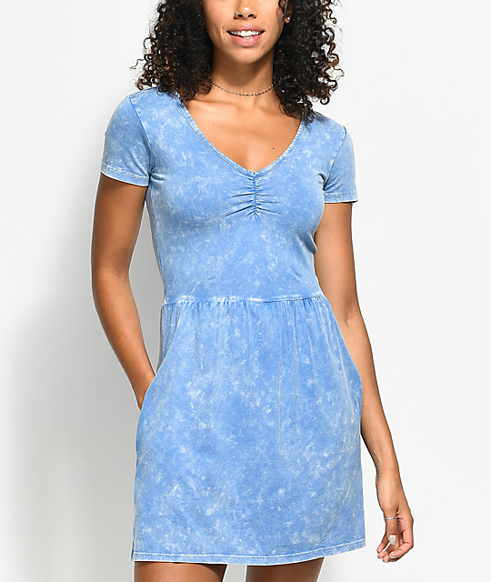 RVCA Ritual Horizon Blue Dress
