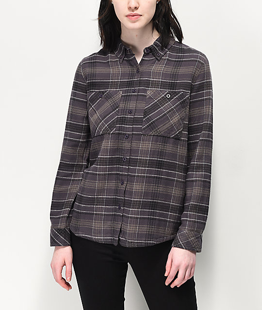 RVCA Roam Black Flannel Shirt