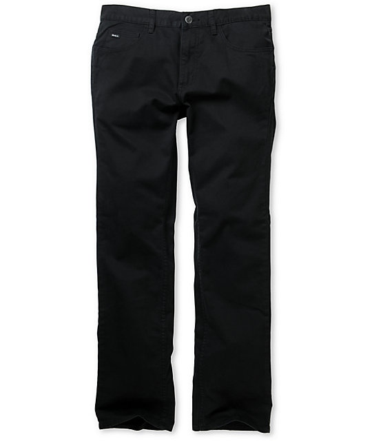 RVCA Romero Black Stretch Twill Chino Pants