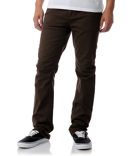 RVCA Romero Brown Stretch Twill Pants