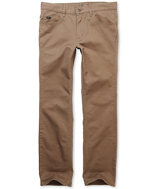 RVCA Romero Light Brown Stretch Twill Pants