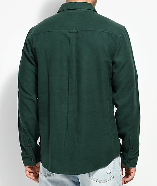 RVCA Second Look camisa de franela verde