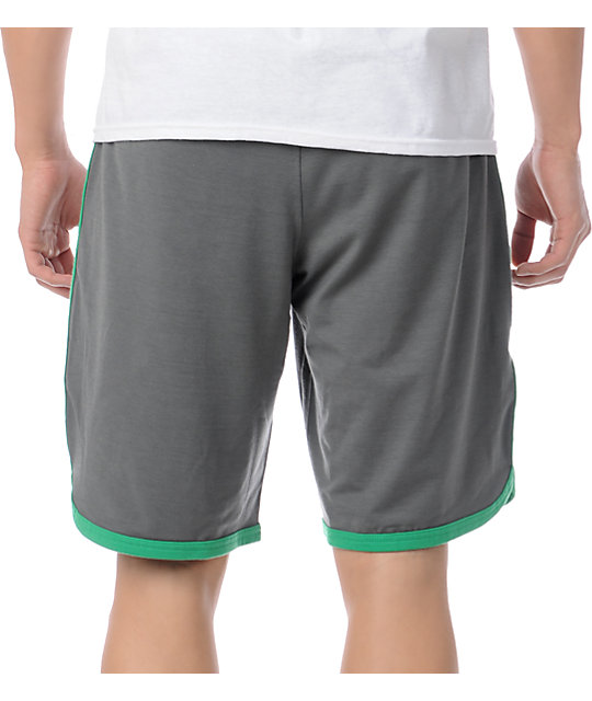RVCA Sport Short II Grey & Green Shorts