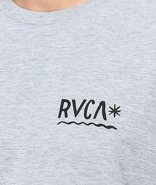 RVCA Squiggle Heather Grey T-Shirt