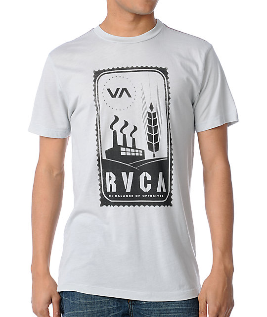 RVCA Stamp Grey T-Shirt