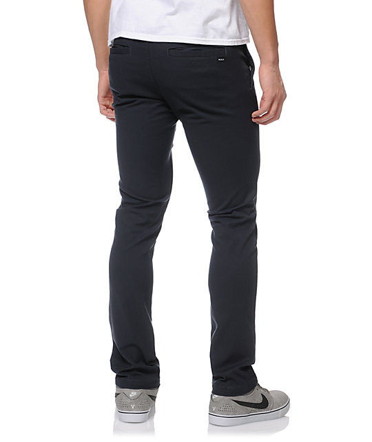RVCA Stapler Ink Slim Fit Chino Pants