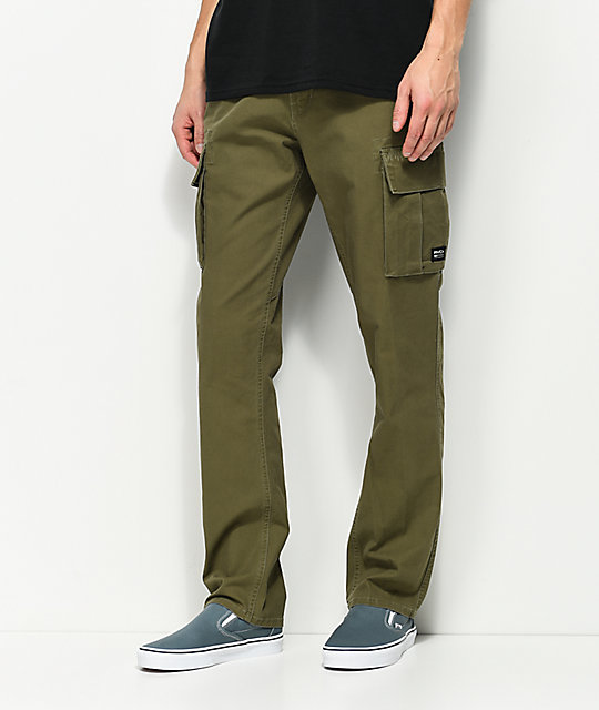 RVCA Stay RVCA Olive Green Cargo Pants