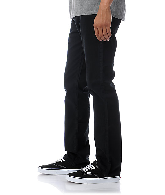 RVCA Stay Twill Stretch Regular Fit Black Pants