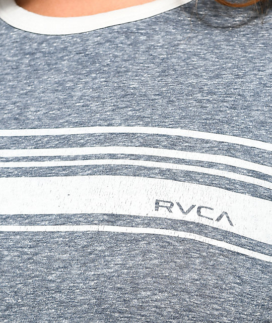 RVCA Stripe Set Federal Blue T-Shirt