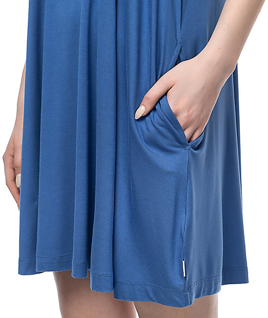 RVCA Sucker Punch 2 Blue Swing Dress