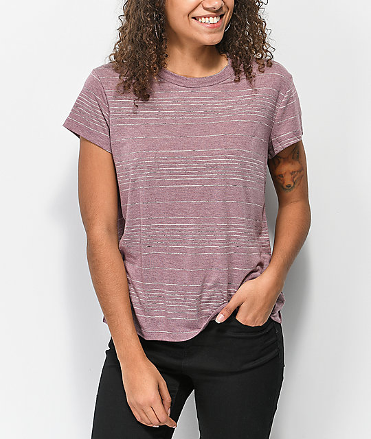 RVCA Suspension 2 camiseta magenta descolorida