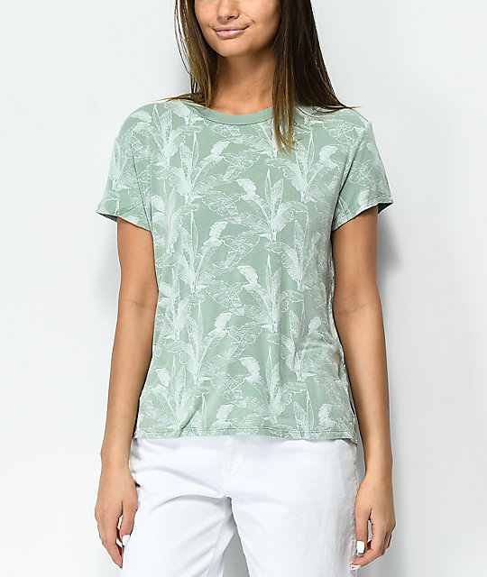 RVCA Suspension Palm Tree Granite Green T-Shirt