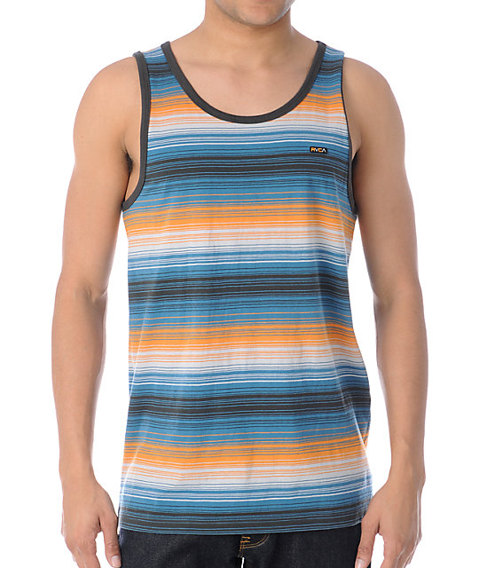 RVCA Thirsty Orange Tank Top