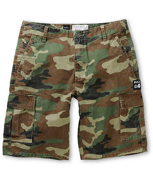 100% satisfaction sophisticated technologies pretty cheap RVCA Trafficker Artist Network Program Camo Cargo Shorts