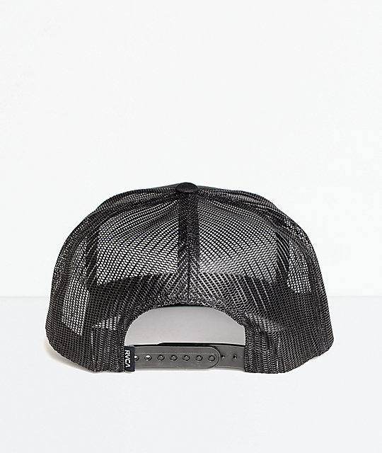 ... RVCA VA All The Way Black Trucker Hat ... 25bb37e788b