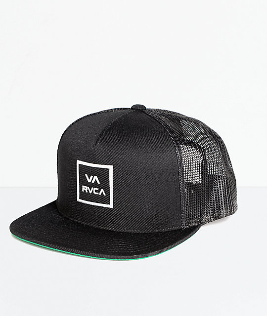 67fce39c58187 ... closeout rvca va all the way black trucker hat e5fda 8c8a5