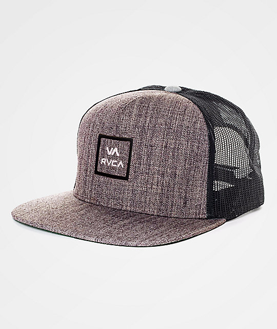 RVCA VA All The Way Heather Grey Trucker Hat