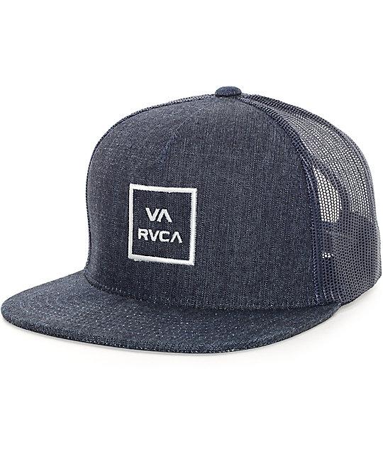 3f4bba35 RVCA VA II All The Way Denim Trucker Hat | Zumiez