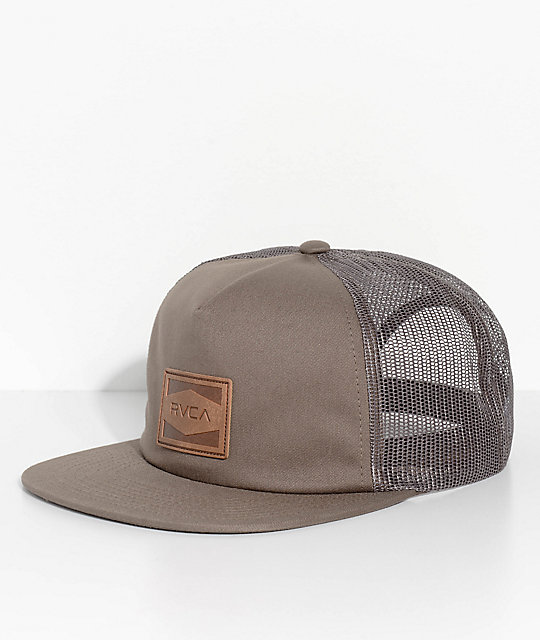 RVCA Washburn Olive Green Trucker Hat