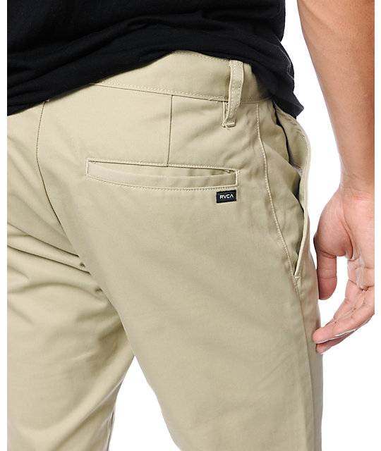 RVCA Week-End Khaki Twill Stretch Slim Fit Chino Pants