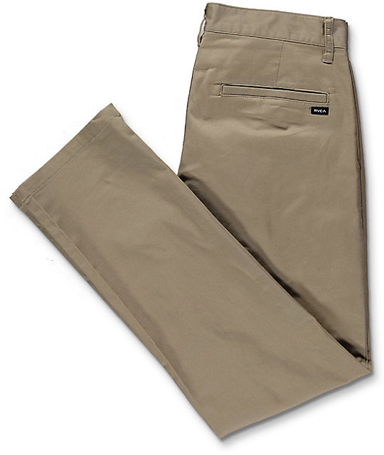 RVCA Weekend Stretch pantalón chino en caqui oscuro