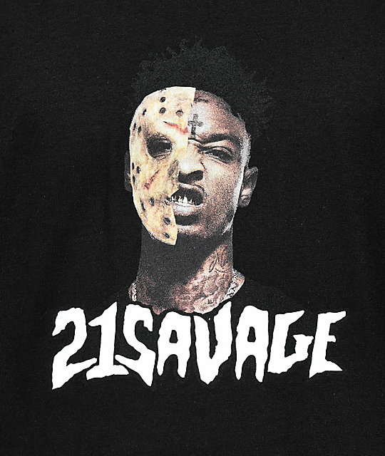 RadYo! x 21 Savage Mask Black T-Shirt