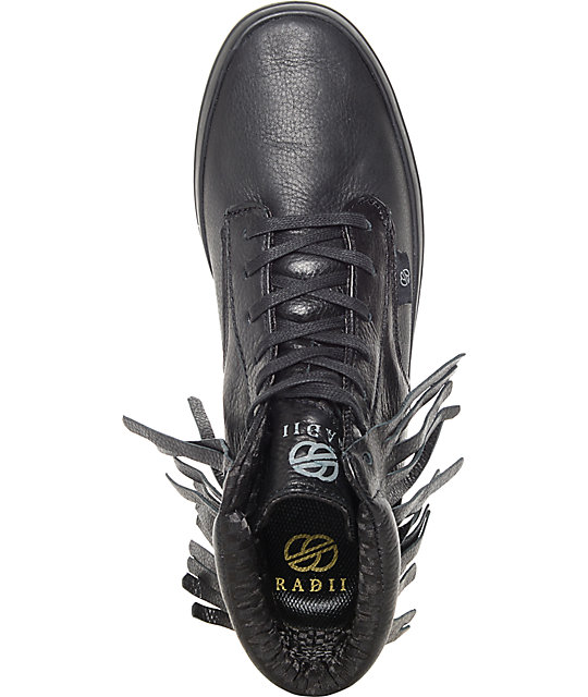 Radii Basic Black Death FG Skate Shoes