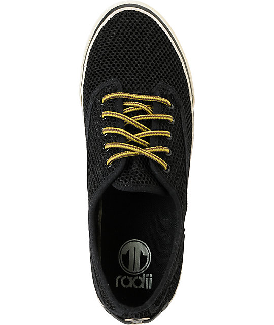Radii Shoes Axel Black & Cream Mesh Shoes