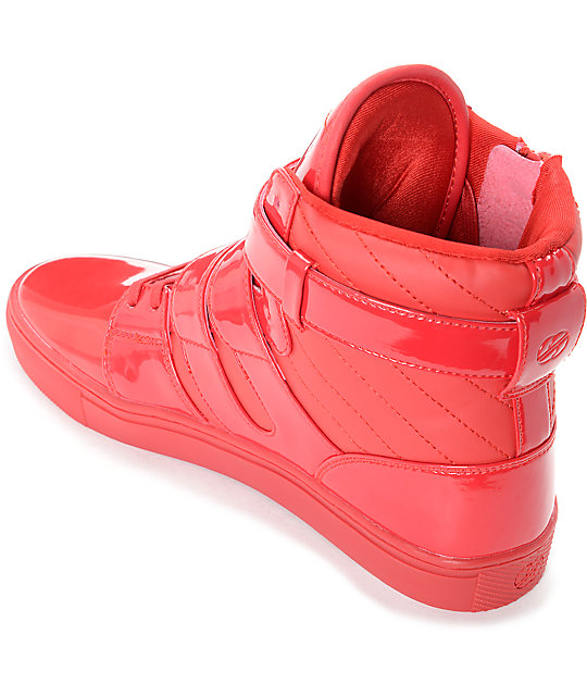 cf8661c15192e Radii Straight Jacket Candy Apple Red Patent Leather Shoes   Zumiez
