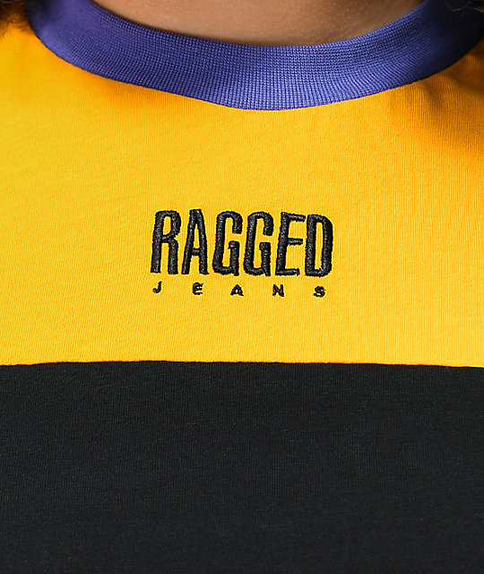 Ragged Jeans Mixed Colorblock T-Shirt