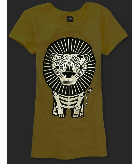 Ralik Lion Bones Yellow Glow T-Shirt