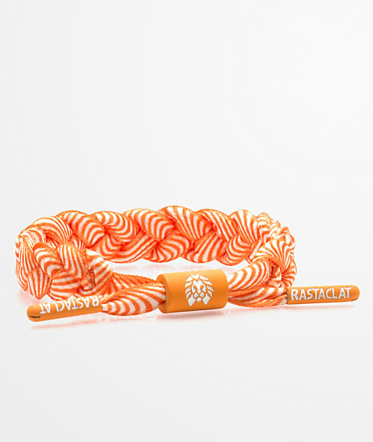 Rastaclat Classic Dreamer Orange & White Bracelet