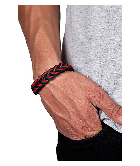 Rastaclat Dark Green & Red Bracelet