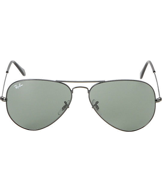 Ray-Ban Aviator Black & Green Sunglasses