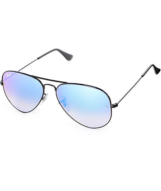 Ray Gradient Ban Aviator Blue Sunglasses Flash j35L4RA