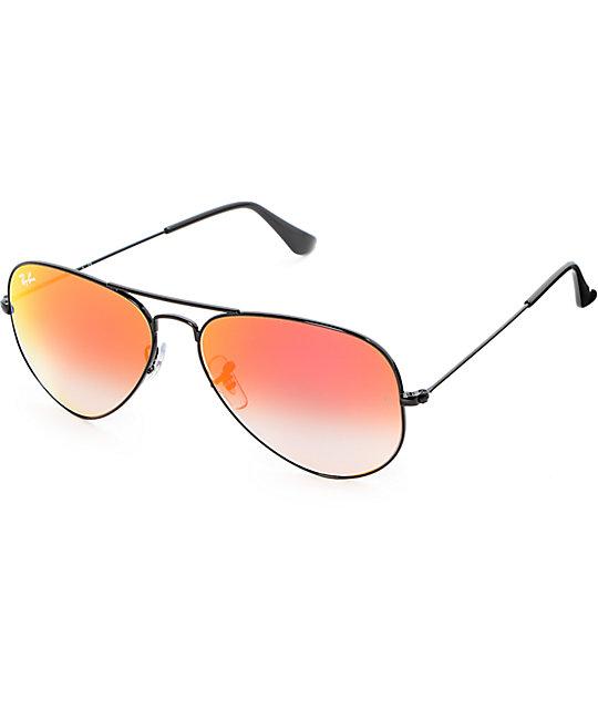 Ray-Ban Aviator Red Flash Gradient Sunglasses | Zumiez