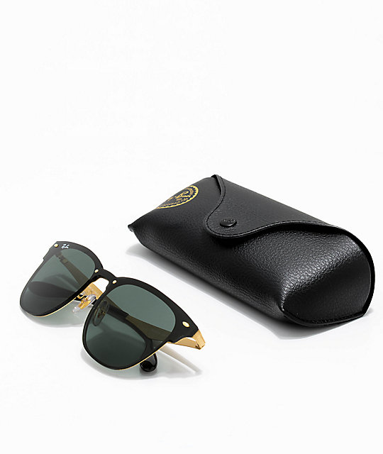 939f05c7a7 Ray-Ban Blaze Clubmaster gafas de sol en negro y oro   Zumiez