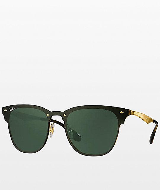 530cd6912d Ray-Ban Blaze Clubmaster gafas de sol en negro y oro | Zumiez