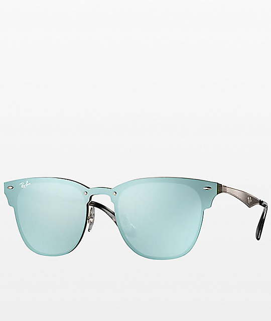 d1943e4383 Ray-Ban Blaze Clubmaster gafas de sol plateadas   Zumiez