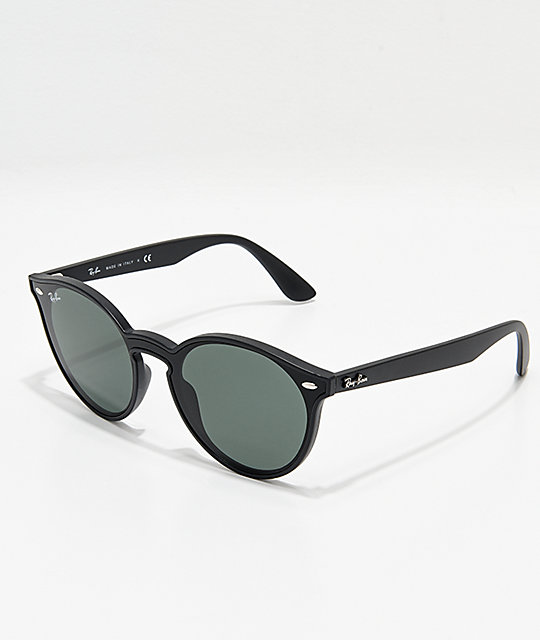 Ray-Ban Blaze Matte Black & Green Sunglasses