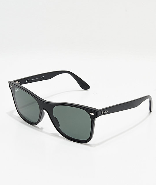 Ray-Ban Blaze Wayfarer Black & Green Sunglasses