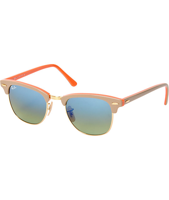 ray ban clubmaster orange