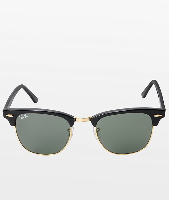4313f25f29 ... Ray-Ban Clubmaster Black   Gold Sunglasses
