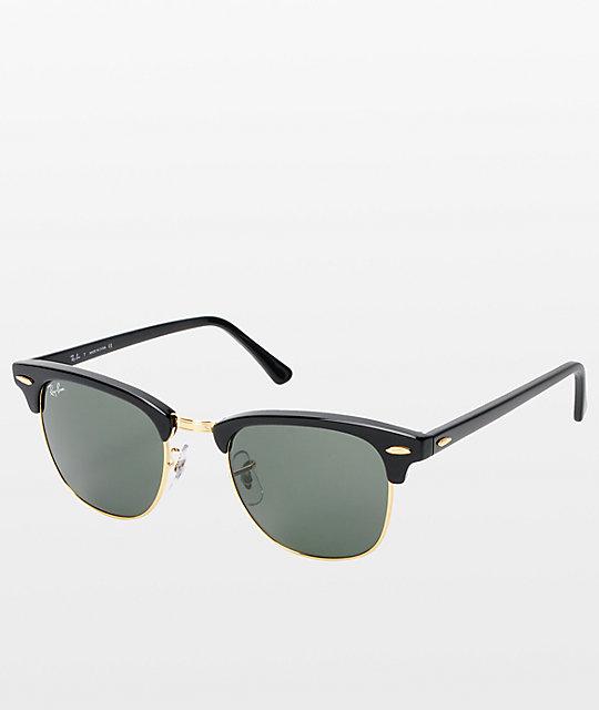 Ray Ban Clubmaster Black Gold Sunglasses