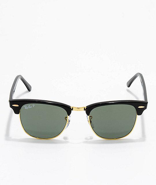 Clubmaster Blackamp; Polarized Gold Ray Sunglasses Ban N0m8wn