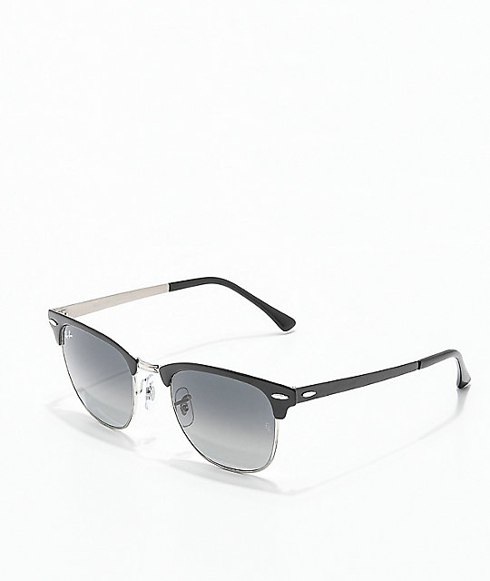 10ed6a638c Ray-Ban Clubmaster Metal Grey Gradient Black Sunglasses