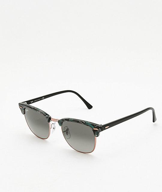... shop ray ban clubmaster spotted grey green sunglasses d95e4 caff7 4cbc53e8b2