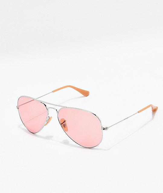 7e4ead695f980 Ray-Ban Evolve gafas de sol aviador polarizadas en oro y rosa ...